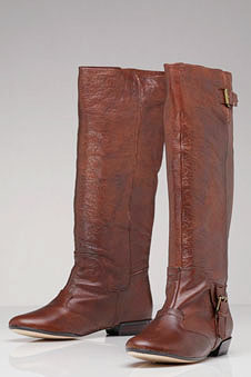 Dolce Vita Tessa Flat Boot with Buckles in Brown (they come in black too)