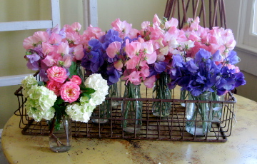 Mixed Sweet Pea & Rose Bouquet
