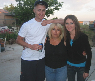 My mom, brother and I.